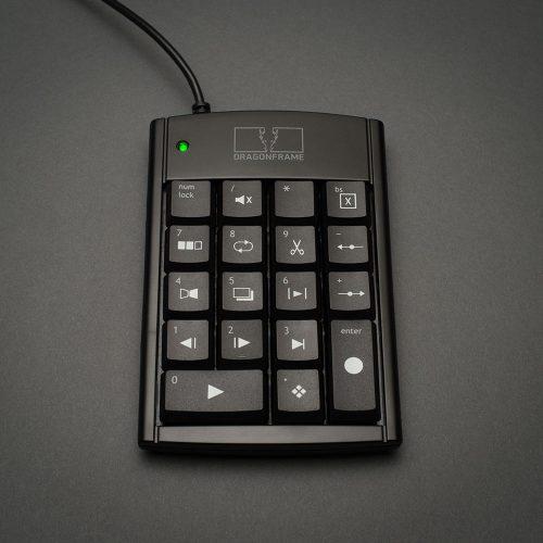 Dragonframe USB keypad front view