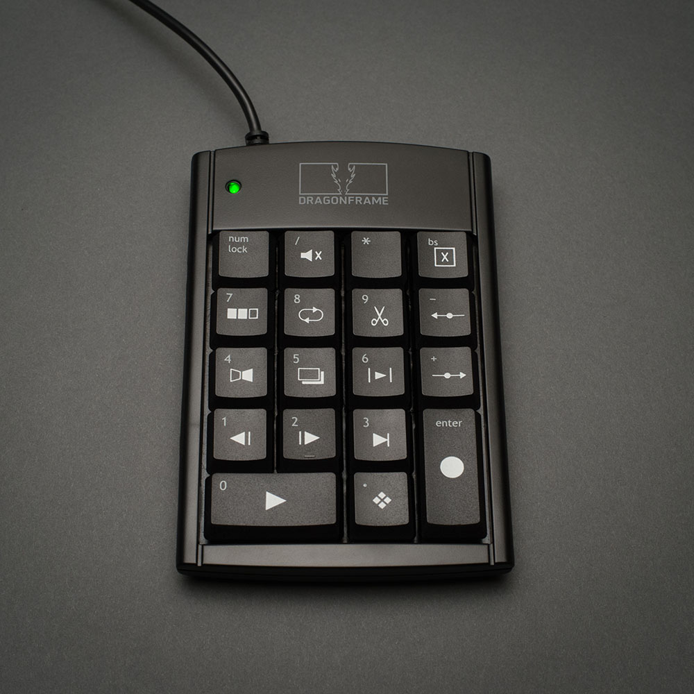 Dragonframe USB keypad front view