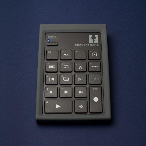 Dragonframe bluetooth keypad front view