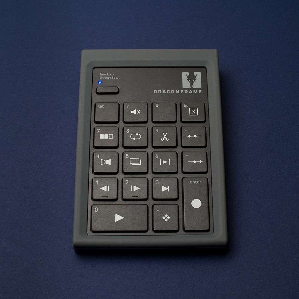 Dragonframe bluetooth keypad front view