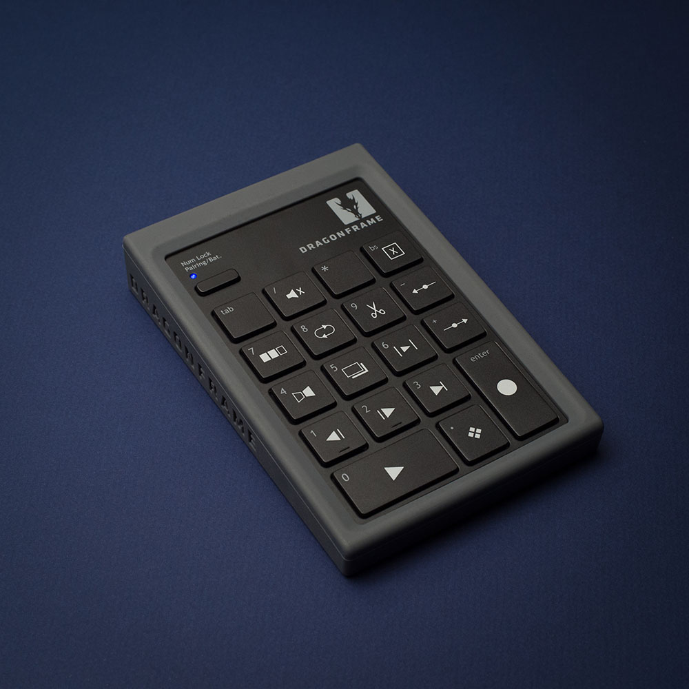 Dragonframe bluetooth keypad angled view