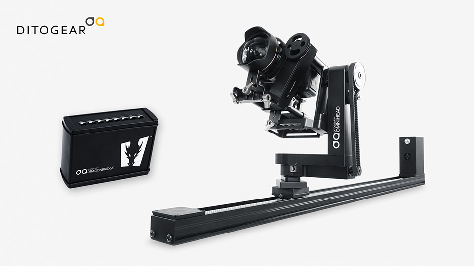 Ditogear slider, pan, tilt and focus, along with DragonBridge