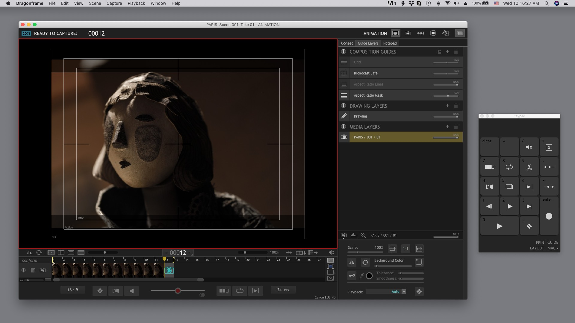 Animation Workspace on macOS
