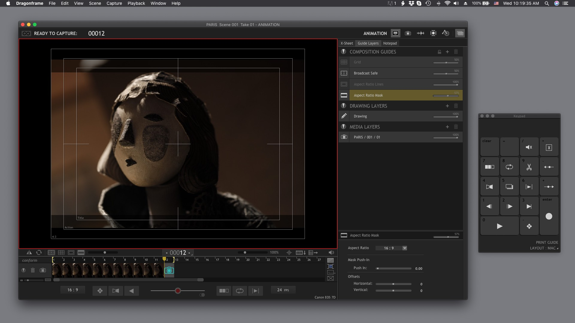 Animation Workspace on macOS (dark mode)