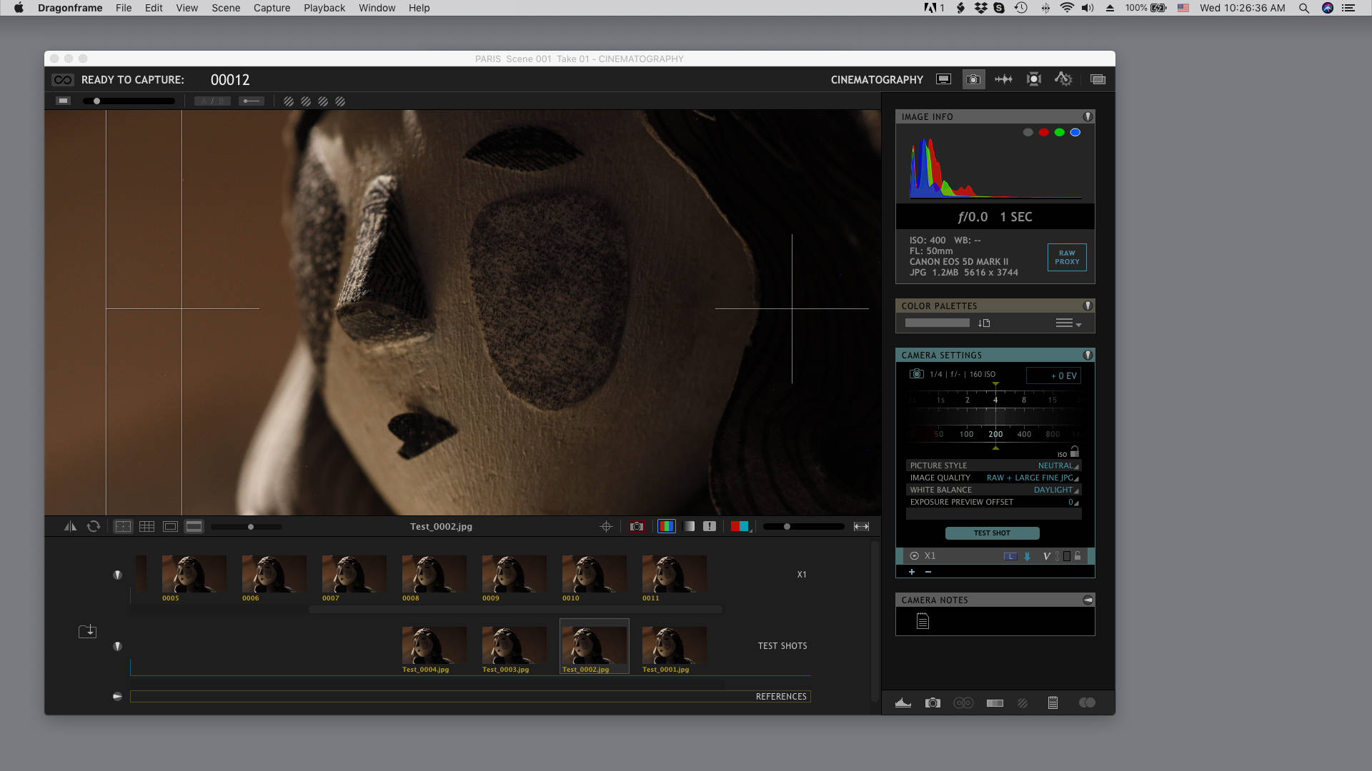 Cinematography Workspace on macOS