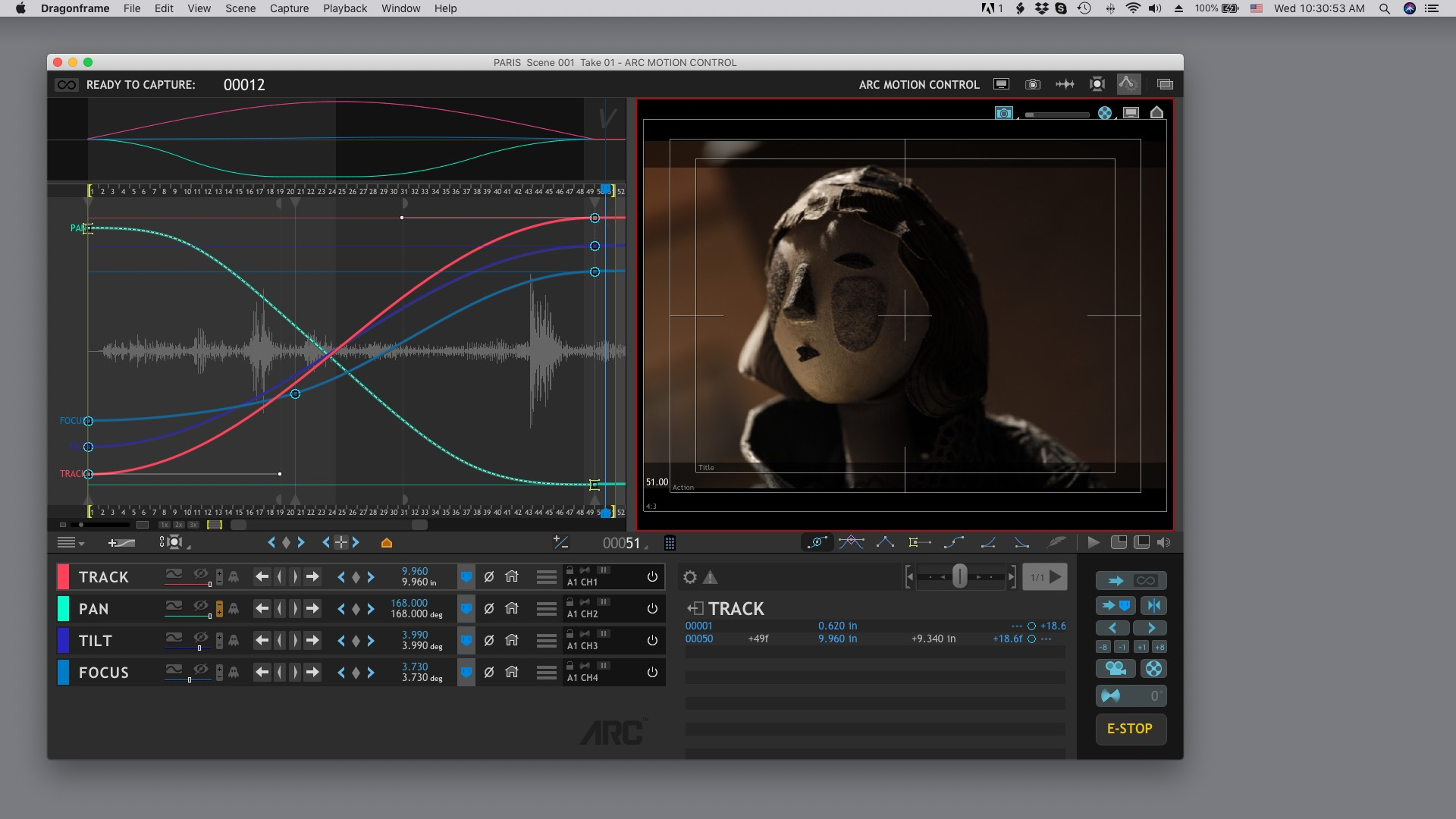 Arc Motion Control Workspace on macOS