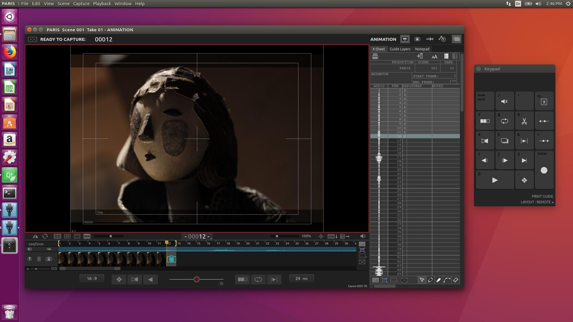 Animation Workspace on Ubuntu