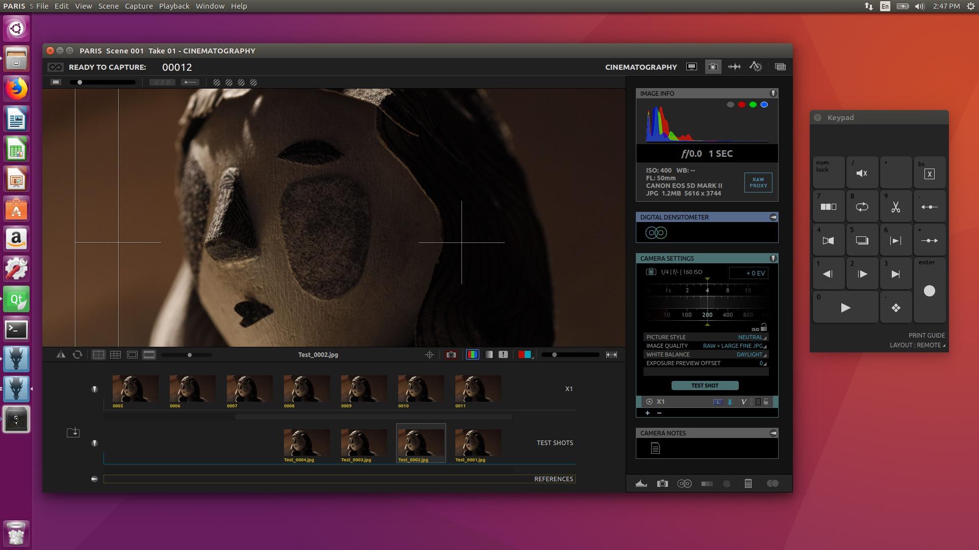 Cinematography Workspace on Ubuntu