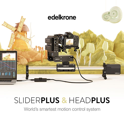 edelkrone SliderPLUS & HeadPlus with Stop Motion Module
